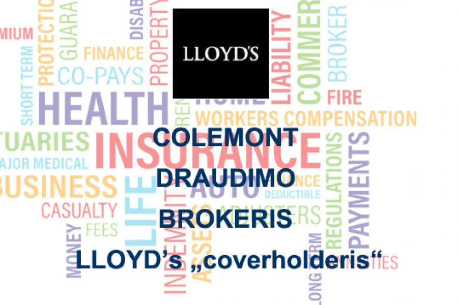 "COLEMONT DRAUDIMO BROKERIS – LLOYD's ""coverholderis"""