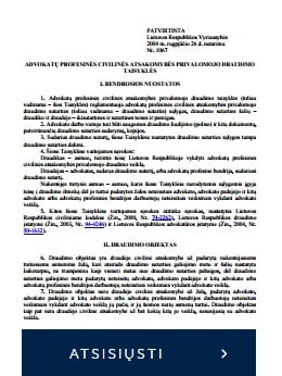 ADVOKATU PROFESINES CIVILINES ATSAKOMYBES PRIVALOMOJO DRAUDIMO TAISYKLES_www.colemont.lt