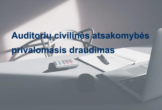 Rekomendacijos – rizikinga veikla. Auditorių civilinės atsakomybės privalomasis draudimas