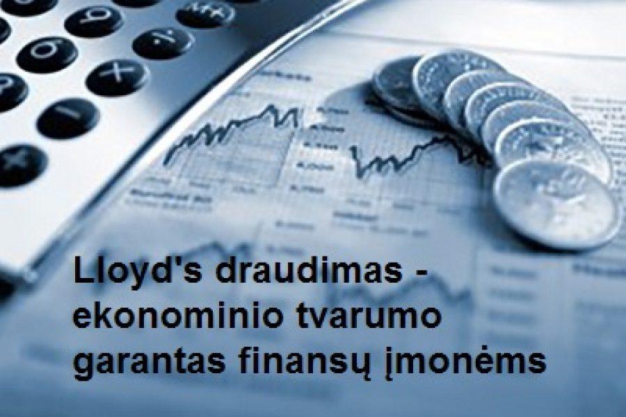 Lloyd's draudimas – ekonominio tvarumo garantas finansų įmonėms