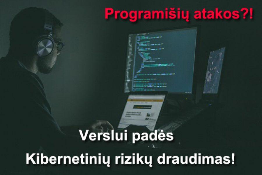 Programišių atakos?! Verslui padės – Kibernetinių rizikų draudimas